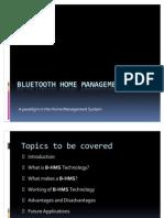 Bluetooth Home Management System