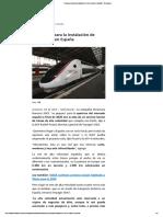 Francia Prepara La Instalación de Trenes Bala en España - Tecnología