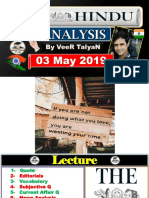 03 May - 2019-The Hindu Full News Paper Analysis by VeeR