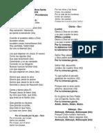Canciones Eucaristía y Hora Santa Abr-25-2019