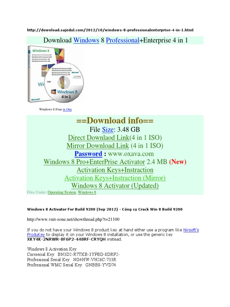 196735650-Windows-8-Activator-for-Build-9200 docx | Windows