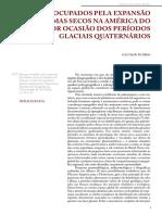 Espaços Ocupados Exp Climas Secos Glaciais Quaternário AB Saber
