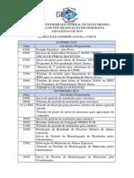 Calendário ppgo