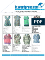 Baju Murah Jual Grosir Batik Solo Pekalongan Model Terbaru 2010 Foto Katalog 2 November