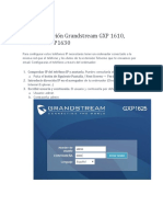 manual de configuracion telefono IP Grandstream 1610