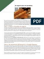 8 Plan de Negocio - Para Una Panadería