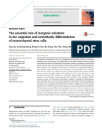 The Essencial Role of Inorganic Substrate in the Migration and Osteoblastic Diff