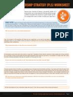 Personal Leadership Strategy Worksheet