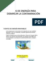 Tipos de Energía Para Disminuir La Contaminación