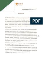 AMLO memorándum austeridad, 03may19 (1)
