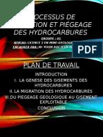 Processus de Formation Et Piégeage Des Hydrocarbures