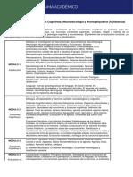 Curso Anual de Neurociencias Cognitivas, Neuropsicología y Neuropsiquiatría (a Distancia)
