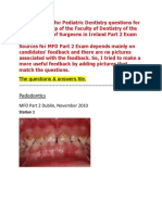 MFD Part 2 - Pediatric Dentistry Exams Questions & Answers