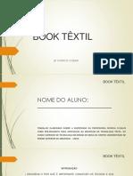 Book Têxtil Conteúdo