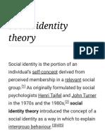 Social Identify Theory