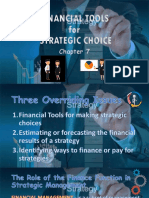 Financial Tools for Stategic Management