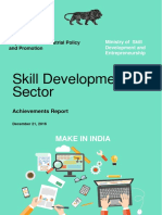 Skill Development Sector - Achievement Report