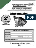 ERAI-Matematica Segundo Grado Secundaria
