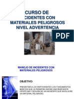 Materiales Peligrosos NiveL de ADVERTENCIA