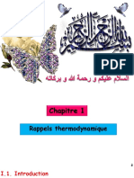 Chapitre 1 Rappels Thermodynamique 3ème Génie Des Procédés