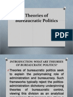 Theories of Bureaucratic Politics