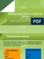 Magnitudes Físicas y Leyes de Escala