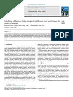 Reliabilitycalibrationsforthedesignofcold-formedsteelportalframesbyadvancedanalysis