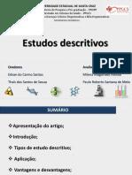 Epidemiologia - Estudos descritivos