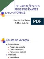 Bioquimica - Causas de Variação