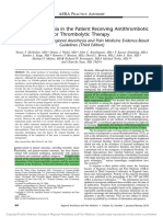 Regional Anesthesia in the Patient Receiving Antithrombotic or Thrombolytic Therapy