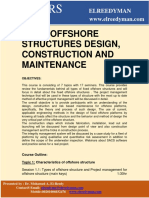 Offshore Structures Design Construction and Maintenance_online Course_2019