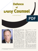 In Defence of Duty Counsel, by Michael Bryant
