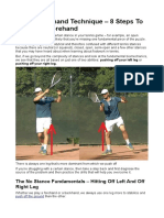 Tennis Forehand Technique