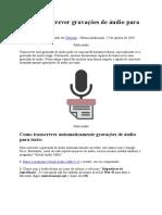 Como Transcrever Gravações de Áudio Para Texto