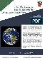 Leyes y Acuerdos de Acuerdo Al Desarrollo Sustentable