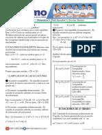 MATEMATICA I  ( ecuaciones)