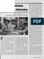 Edgard Romero Nava - La Industria Petrolera Privada - Revista Gerente - Marzo 1987
