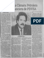 Edgard Romero Nava Preocupa a La Camara Petrolera Situacion Financiera de PDVSA - 1987