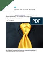 Distintas Maneras de Hacer Nudos de Corbata Que Todo Hombre Debe Conocer