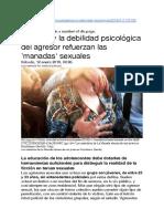 El porno y la debilidad psicológica del agresor refuerzan las 'manadas' sexuales