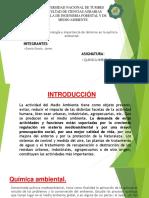 Definicion, Terminologia de Terminos en La Quimica Ambiental.