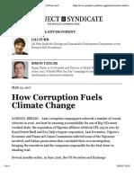 How Corruption Fuels Climate Change