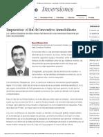El Mercurio Inversiones - Impuestos_ El Fin Del Incentivo Inmobiliario
