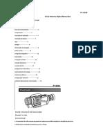 Manual Traduzido Monóculo Visão Noturna IR P1-0540