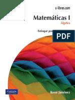 Matematicas I Algebra - Rene Jiménez - Parte 1.pdf