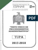TUPA MUNICIPALIDAD PROVINCIAL DE ESPINAR
