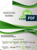Requisitos para inscribirse Registro Campesino