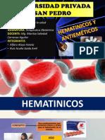 Exposición Terapeutica Hematinicos Antiemeticos