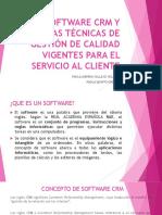 Software Crm y Normas Técnicas de Gestión de [Autoguardado]