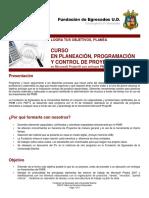 Curso Planificacion de Proyectos Versión Agosto 2010